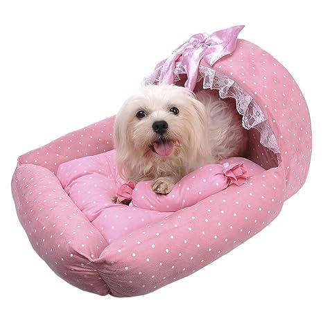 Princesa guisantes cesta perros cama hundematte para Medianas perro o Large Size Funda extraíble resistente al
