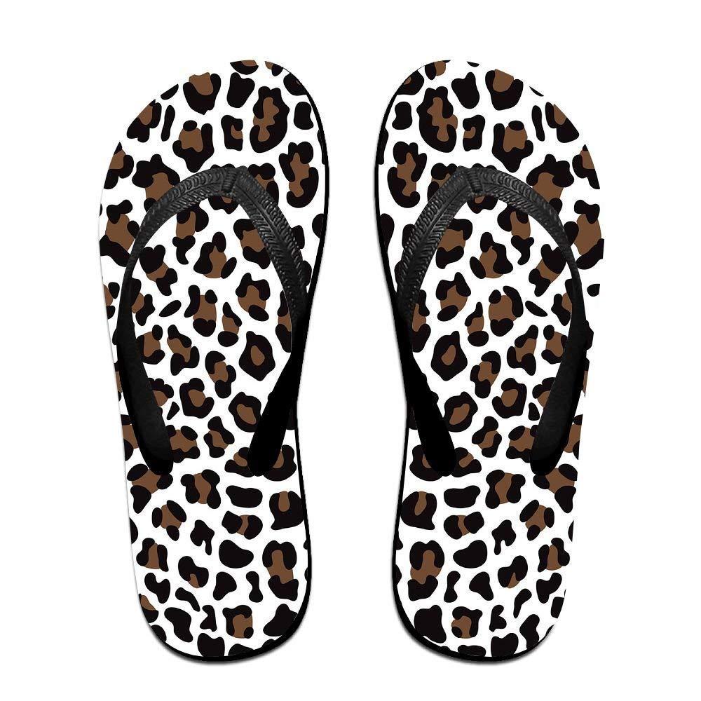 Kelysun Summer Beach Sanls Leopard Grain Comfortable Flip-Flop Multiple Sizes Unisex