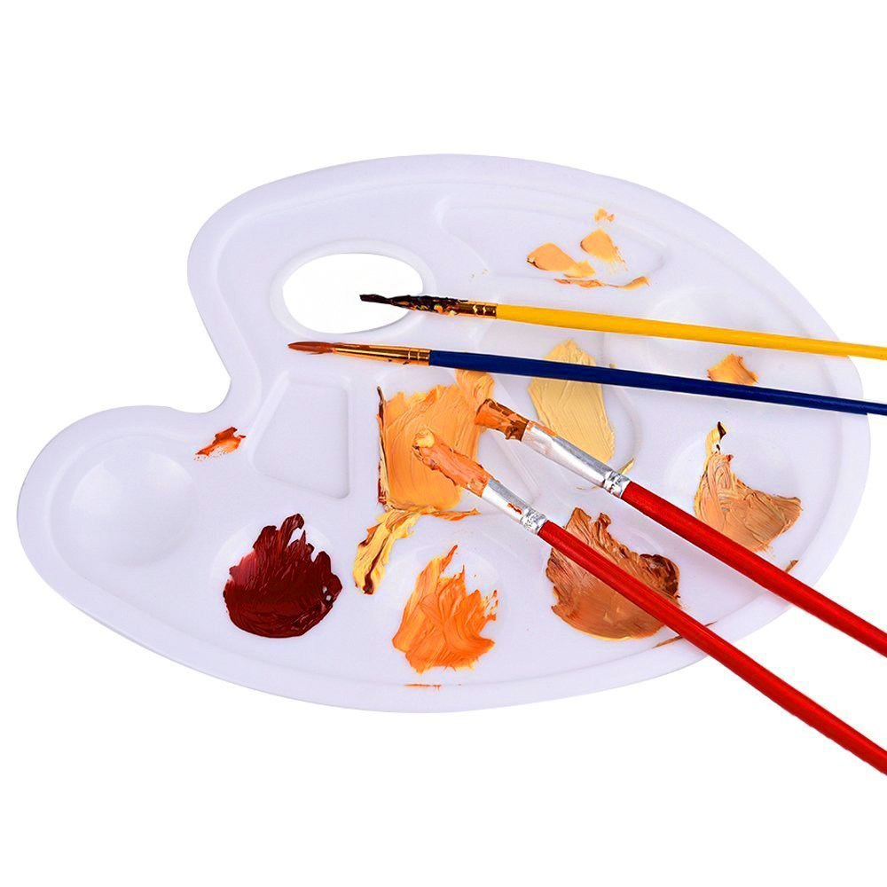 Hosaire Painting Tray Palette Art Palettes 10 Wells with Thumb Hole for Painting Drawing by Hosaire (Image #3)