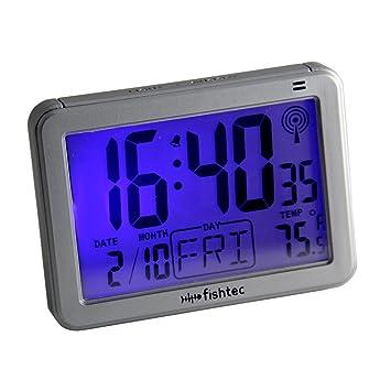 Fishtec Inteligente LCD Despertador Ligero - Controlado por Radio - Detector dOscuridad