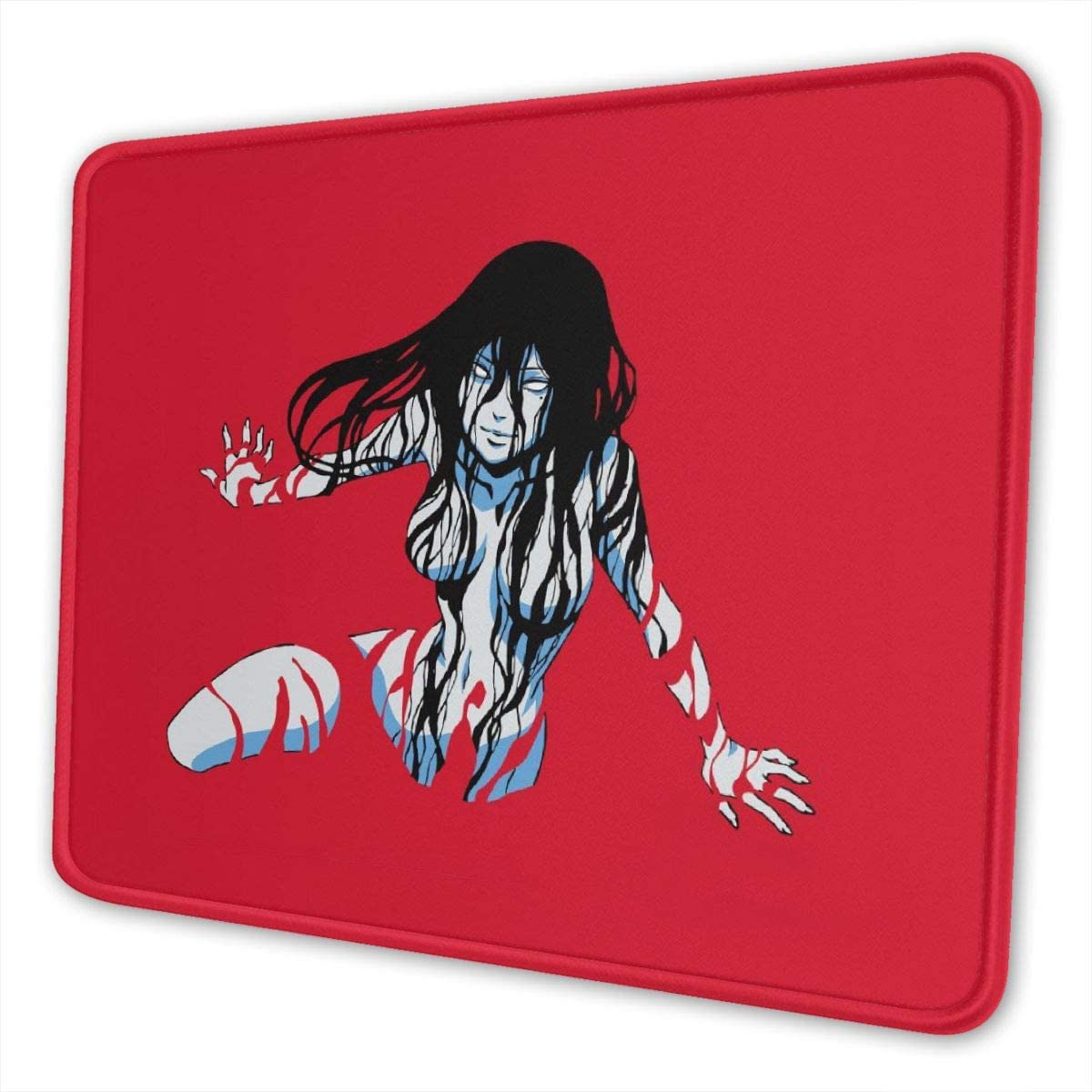 Junji Ito Tomie Kawakami Mouse Pad Non Slip Gaming Mouse Pad with Stitched Edge Computer PC Mousepad Rubber Base for Office Home