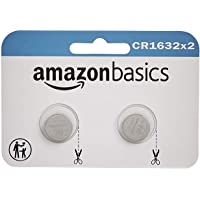 Amazon Basics 2 Pack CR1632 3 Volt Lithium Coin Cell Battery