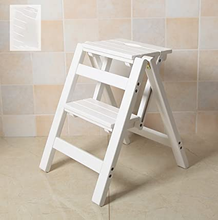 Peachy Color 2 Solid Wood Step Stool Household Multi Functional Ibusinesslaw Wood Chair Design Ideas Ibusinesslaworg