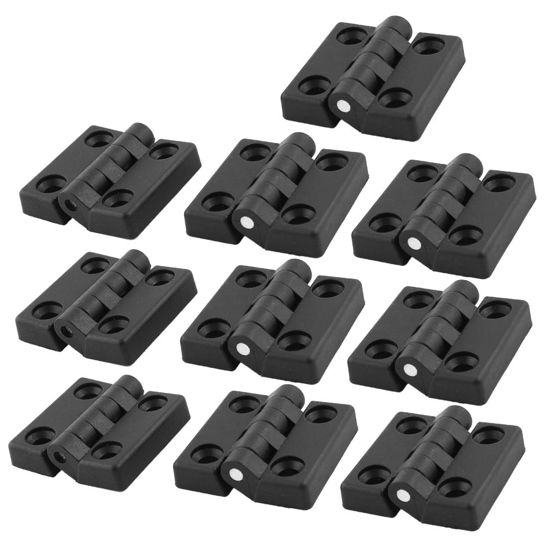 Uxcell a14051000ux0043 50 mm x 47 mm Cabinet Cupboard Door Butt Ball Bearing Hinge  Black (Pack of 10)