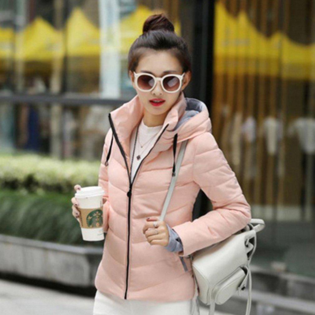 8c25e4d63 Yinew Winter Warm Women's Winter Jacket Hooded Short Heel Large Size ...