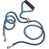 PETBABA Double Dog Leash, Reflective Gear Safety at Night, 4.6ft Tangle Free Dual Rope Coupler, 2 Way Lead Splitter…
