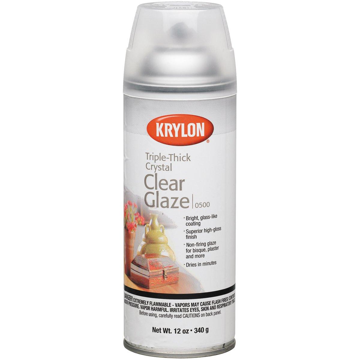 Diversified Brands Kry500 Krylon Triple Thick Glaze Artist Spray, 12 Oz.