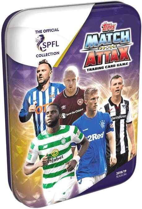Topps Match Attax SPFL Scottish Premiership Trading Cards Mini Tins 2018//2019