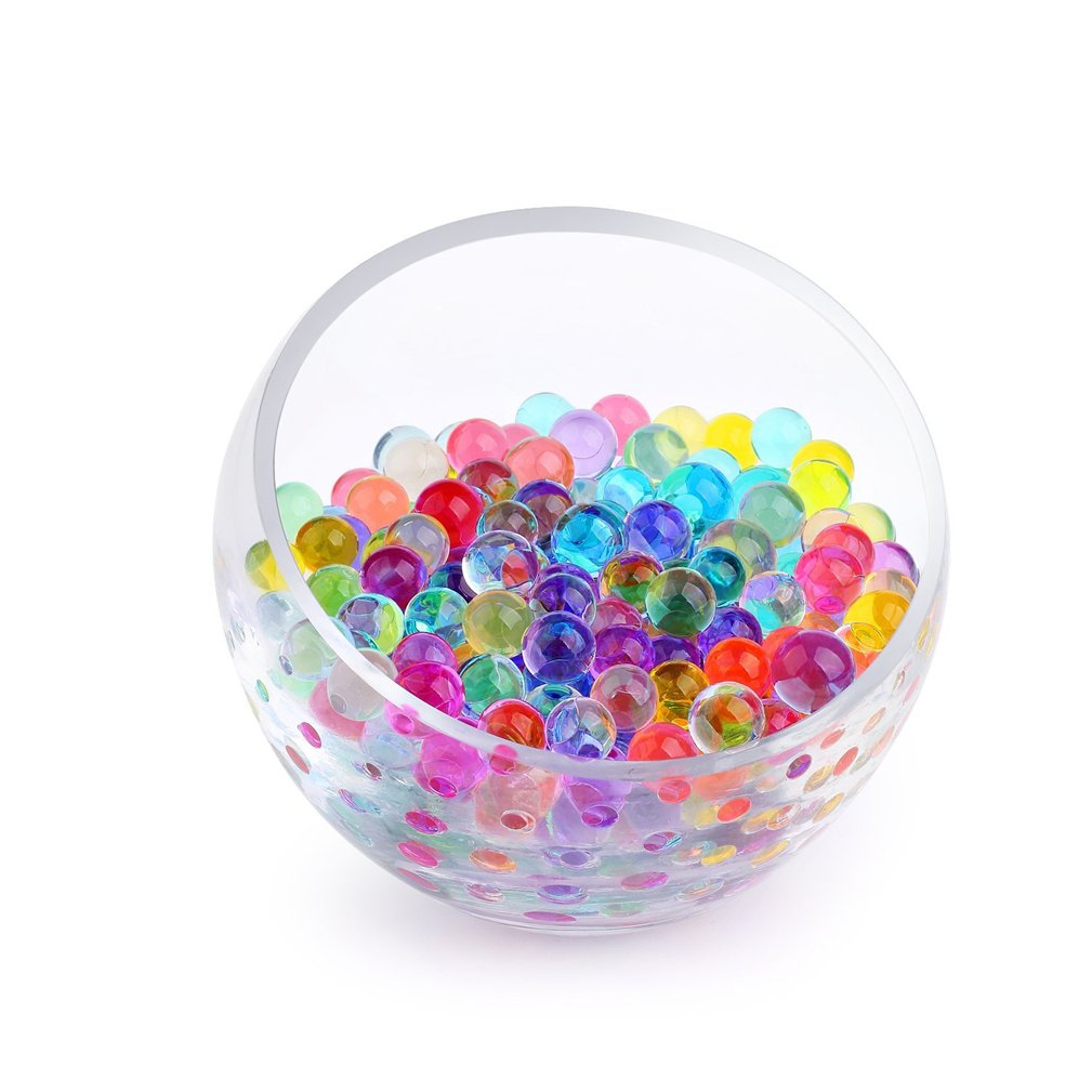 ink2055 10 Bags Pearl shaped Crystal Soil Water Beads Mud Grow Magic balls Plant Decor