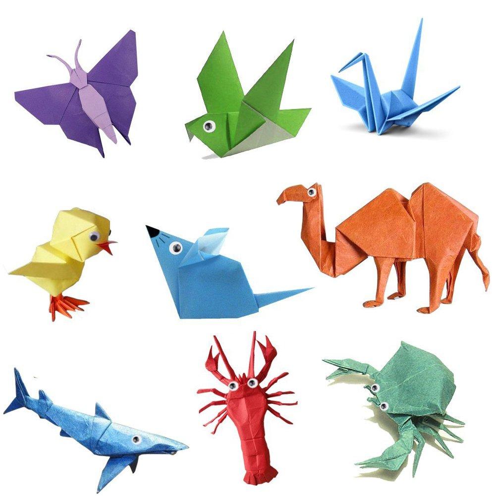 Jingxu 50 Couleurs Papier Origami 200 Feuilles Papier Simple à La
