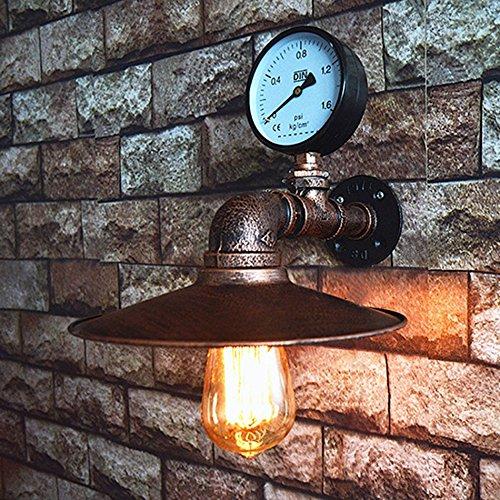 Unbekannt Loft Lampen nachgeahmt Wasserpfeife E27 Wandleuchte Lampe Schlafzimmer Restaurant Pub Cafe Bar Korridor Gang Licht Retro Wandleuchte Bra
