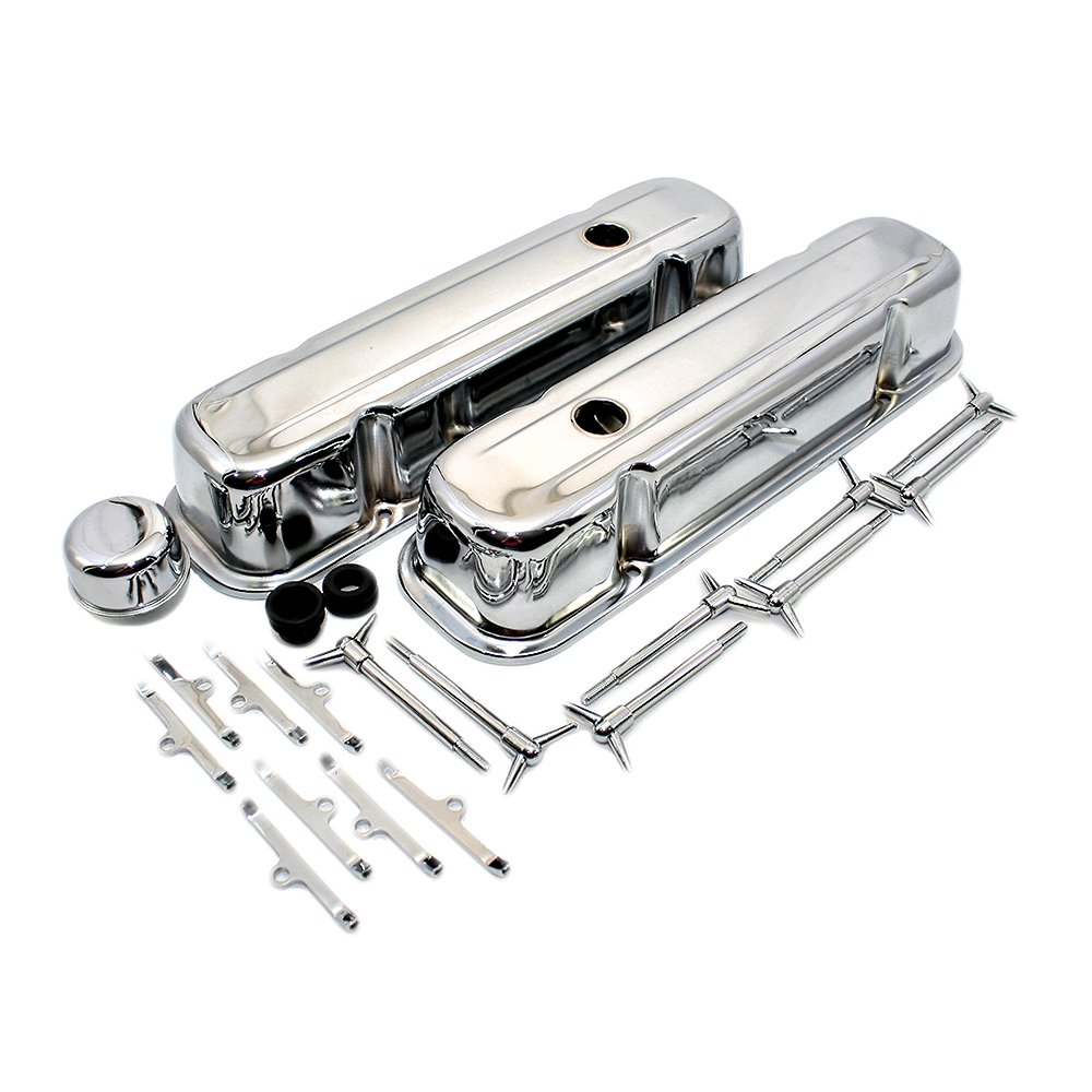 Assault Racing Products A3030 for Pontaic V8 Chrome Tall Style Valve Cover Dress Up Kit