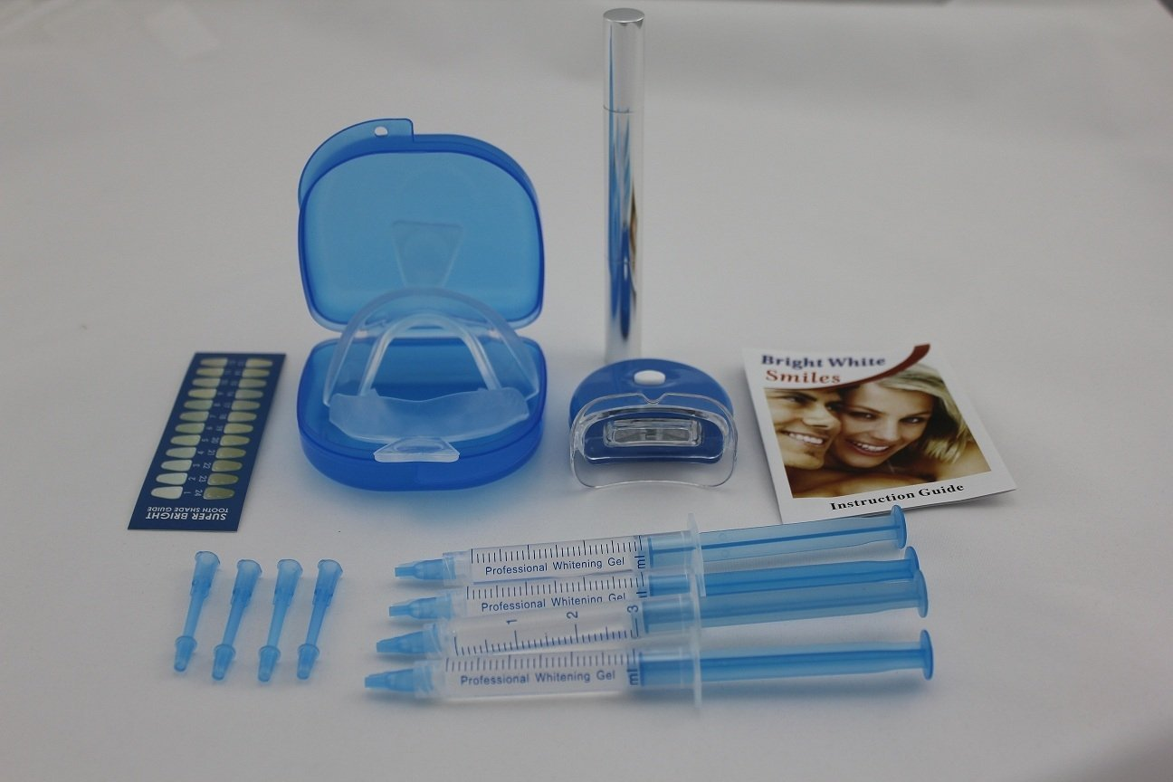 Teeth Whitening Home Kit with White LED Light