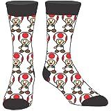 Super Mario Bros Toad Crew Sock Pair White