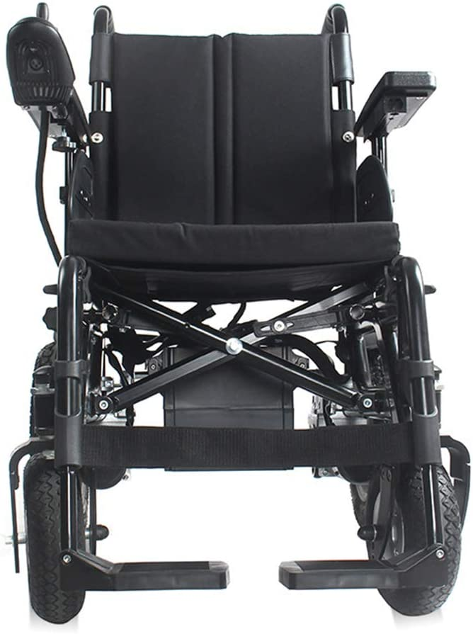 WWWNYY Silla de Ruedas eléctrica Aluminio Plegable de Gama Alta Refuerzo Inteligente obeso discapacitado parapléjico de Mediana Edad Silla de Ruedas eléctrica Scooter