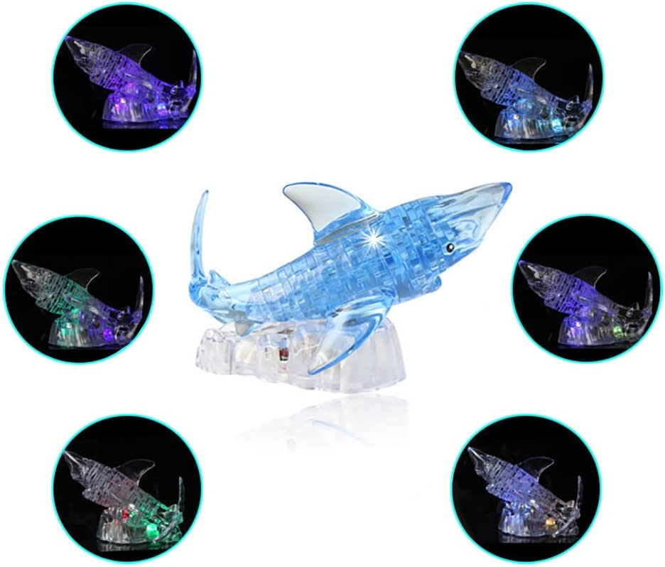 LRRH Novelty Creativity 3D Crystal Jigsaw Puzzle - Shark (40Piece)