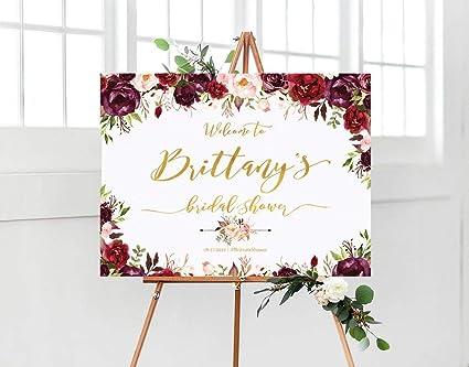 b17015e7f897 Amazon.com  Dozili Bridal Shower Welcome Sign Bridal Shower Sign ...