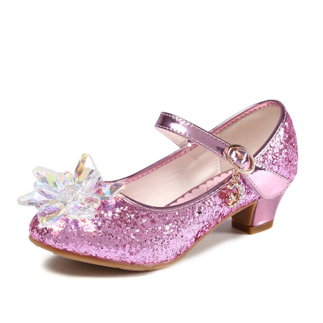 YIBLBOX Little Girls Sparking Cute Low Heel Princess Dress Dance Shoes Wedding Party Shoe Mary Jane