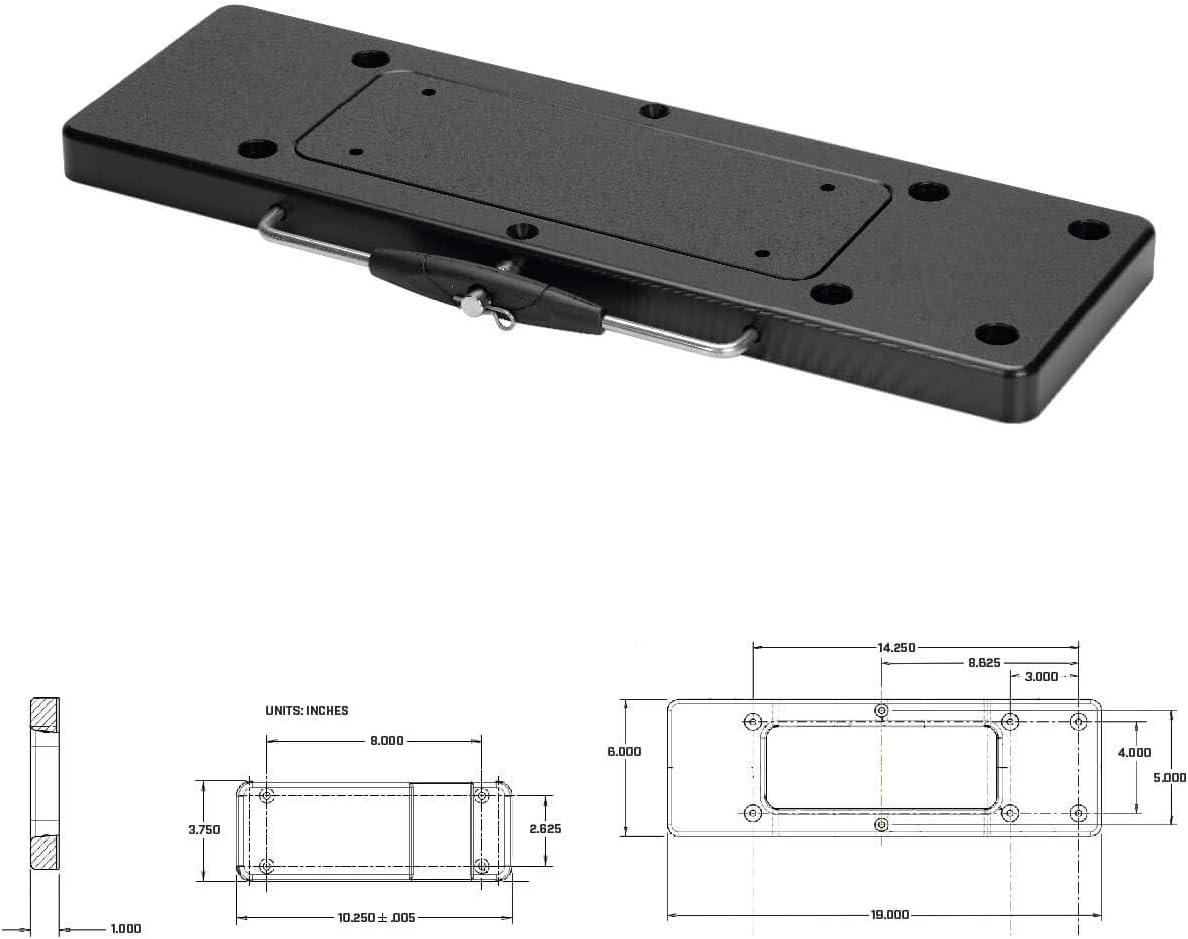 Minn Kota 1854023 Mka 23 Composite Quick Release Bracket Fortrex Maxxum Edge Boating Hardware And Maintenance Supplies Sports Outdoors