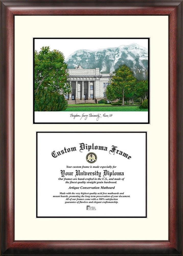Amazon.com : BYU Brigham Young University Mahogany Diploma Frame ...