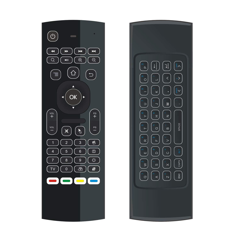ILEBYGO Mini Wireless Keyboard Air Remote Mouse