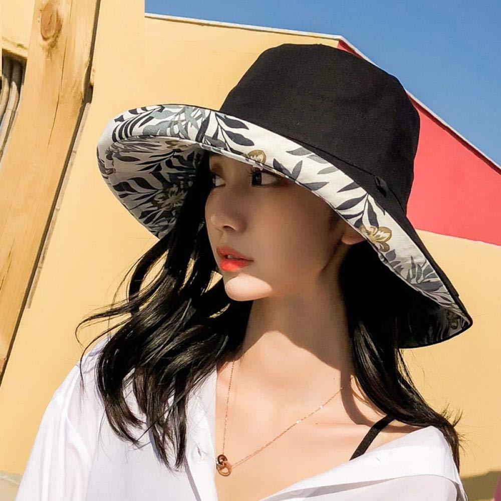 GYBLZRDD Cappello da Sole Traspirante per Donna,Cappello Visiera UV,Cappello da Spiaggia a Tesa Larga Pieghevole,Cappello da Pesca da Viaggio allaperto