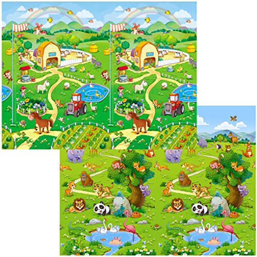Bbcare Soft Baby Play Mat Animal Farm 130 X 180 Cm