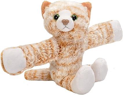 Best Stuffed Animals For Boy, Amazon Com Wild Republic Huggers Tabby Cat Plush Toy Slap Bracelet Stuffed Animal Kids Toys 8 19566 Toys Games