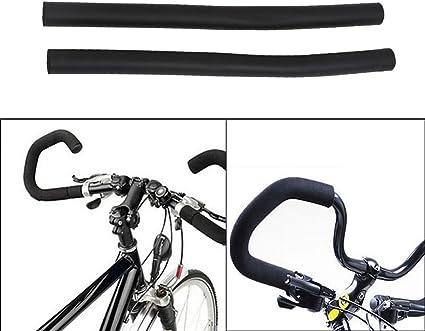 Bike Handlebar Cruisers Foam Grips 4-Piece Set Black//green sponge grips