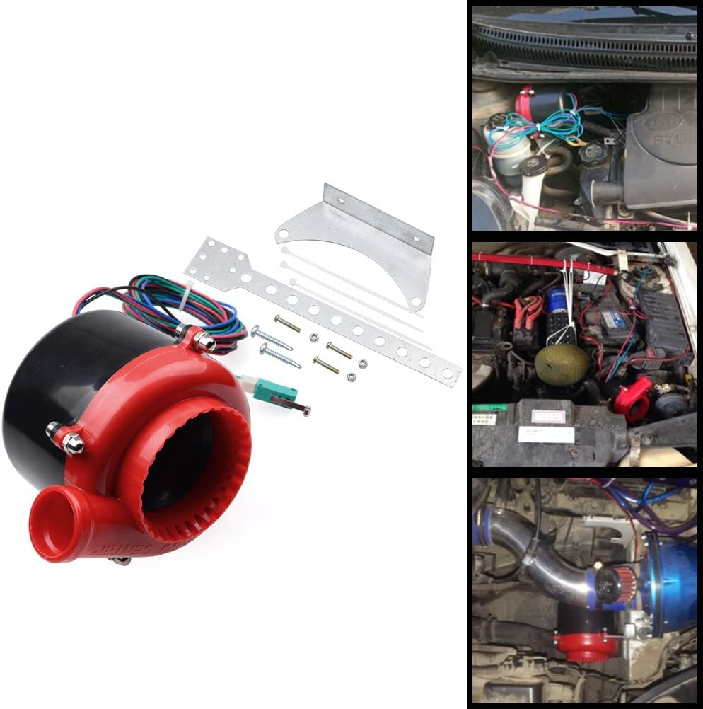 Red Black Car Fake Electronic Turbo Blowoff Blow Off Valve BOV Analog Sound For Chevrolet Dodge Ford GMC