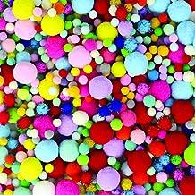 JPSOR 1000 Pcs Pom Poms Craft Making Assorted Sizes & Colors, Creative Craft DIY Material