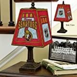 NHL Unisex 14in Art Glass Table Lamp