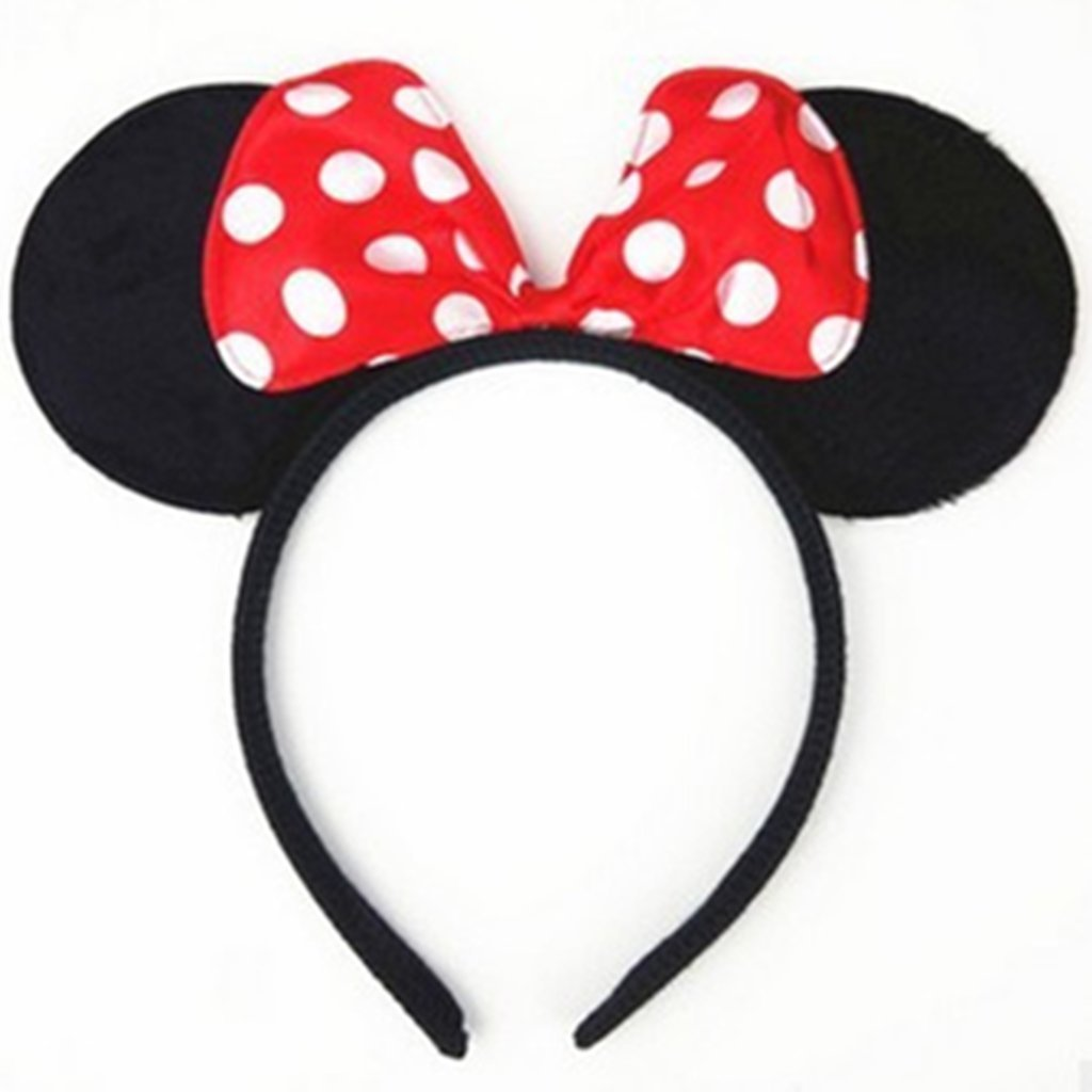 DH Minnie & Mickey Mouse Ear and Red Bow Headband for Girls Birthday Costume Party (12 pcs pack) by DreamHigh (Image #3)