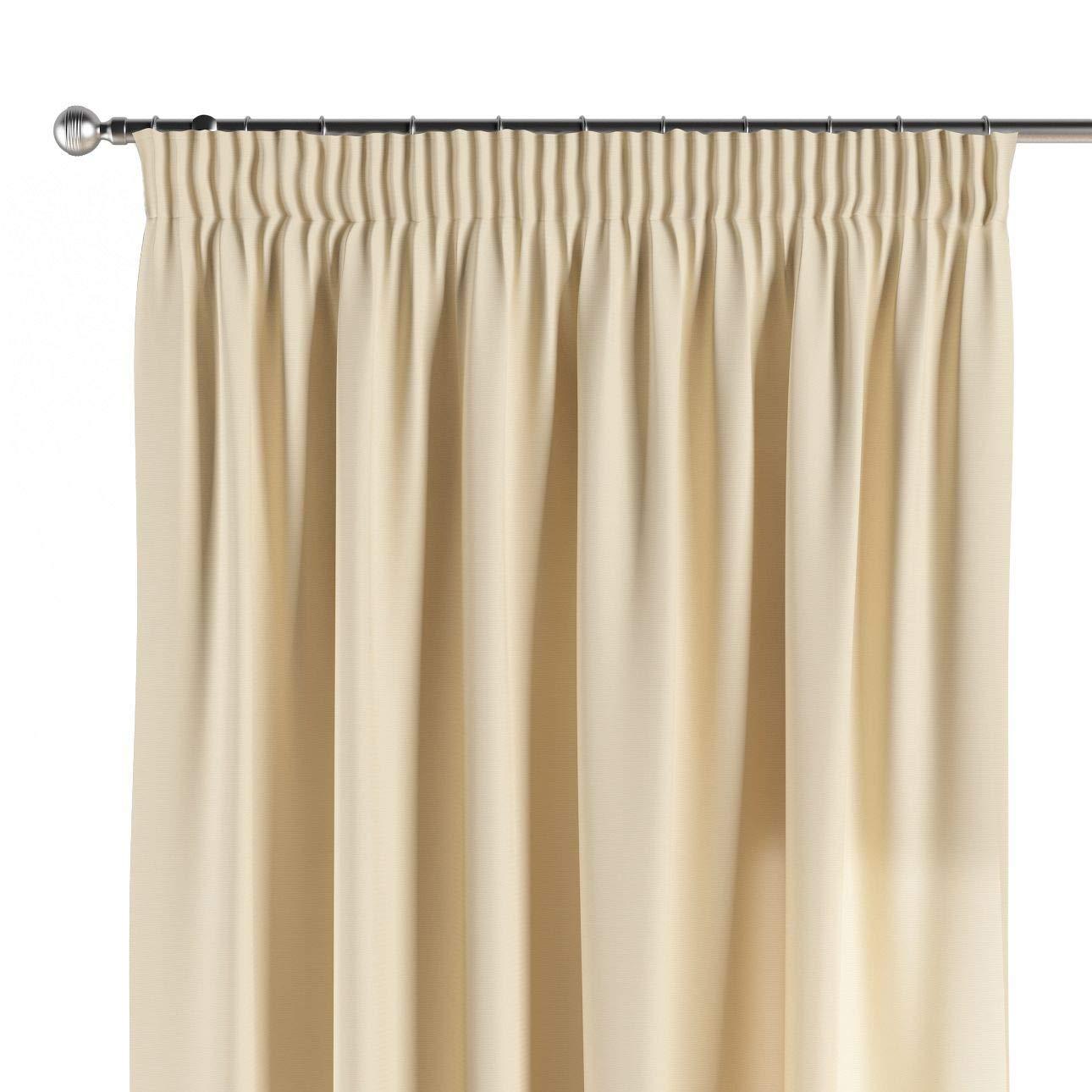 Dekoria Vorhang mit Kräuselband Dekoschal Blickdicht 1 Stck. 130 × 260 cm Creme Maßanfertigung möglich