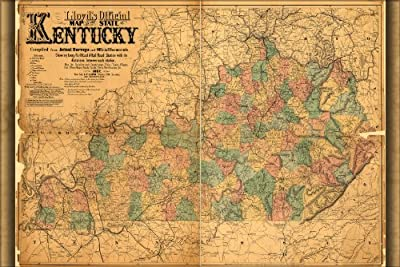 24x36 Poster; Lloyd'S Official Map Of Kentucky 1862 P1; Antique Reprint