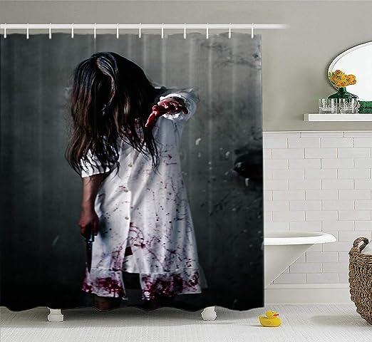 Plants vs Zombies Game Print Waterproof Shower Curtain Bath Wall Hangings Hooks