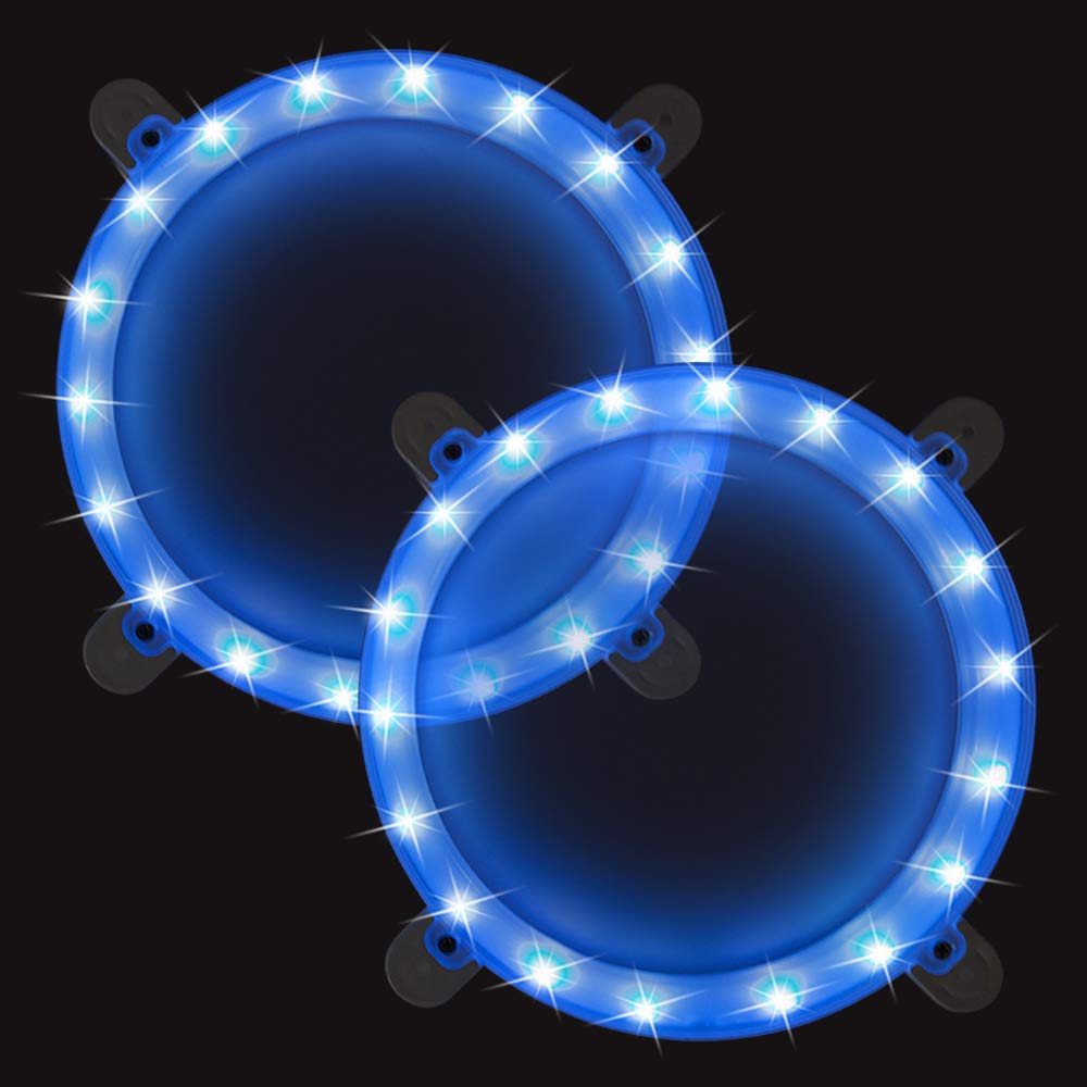 Cornhole Boards Ring Lights, One Set of Two Cornhole Lights, Waterproof LED Cornhole Ring Lights Kit for Cornhole Bags, Bean Bags, Tailgate Games,Yard Games (Blue-Blue) by Blinngo