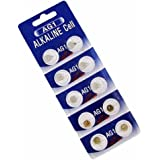 AOR Power® 1.5 Volt Alkaline AG1/LR621 Button Battery, 10 Pack