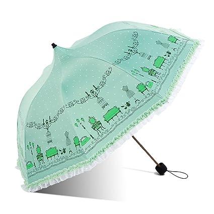 HUANAI Paraguas Sombrilla Domo Vinilo Protección Solar Sombrilla Manual para Clima y Lluvia Anti-UV