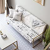 HM&DX Cotton Quilted Sofa cover Creative marble pattern Anti-slip Sectional Couch cover Slipcover protector Decorative Living room-Word 70x150cm(28x59inch)