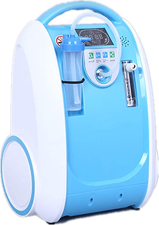Caredaily Household O_xygen C_oncentrator, Dispositivo para Hacer O2 en el hogar, purificador de Aire de 5 l, humidificador Azul B1: Amazon.es: Hogar