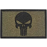 Punisher Tactical Patch Military Army Embroidered Sew on Skull Shoulder Patches Cloth Fabric Patche for Cap Bag Jackets…