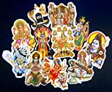India Crafts Wholesale lot of 10 Small Hindu Gods Stickers (Size - 4'' inches Aprox)