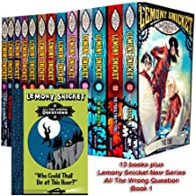 Lemony Snicket 14 Books Set A Series of Unfortunate Events Collection (All The Wrong Questions: Book 1: Who Could That Be at This Hour?)