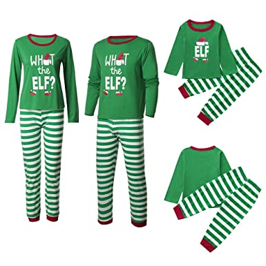 Amazon.com  Family Matching Pajamas Sets Christmas Pajamas Outfit Striped  Letter Holiday Clothes PJ Sets Mom Dad Kids Sleepwear  Clothing 3c38f576b847
