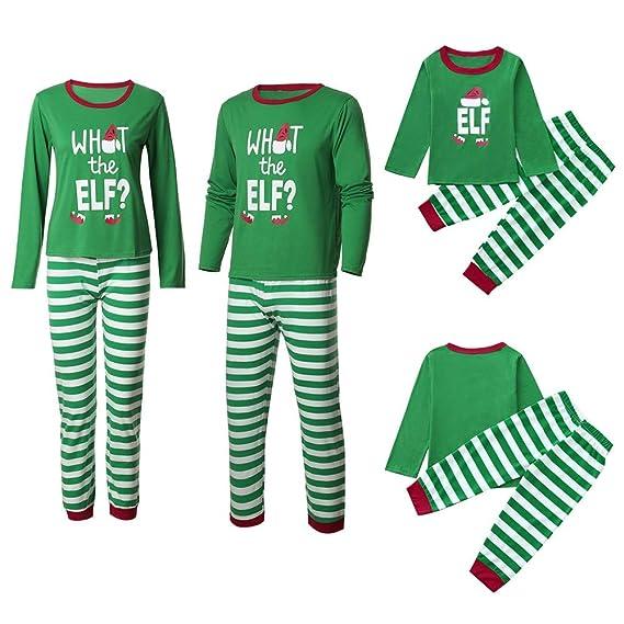 Famiglia Pigiama di Natale Mommy di Natale   papà   Me Bambini Ragazzi  Ragazze a Strisce b3af7c61d71