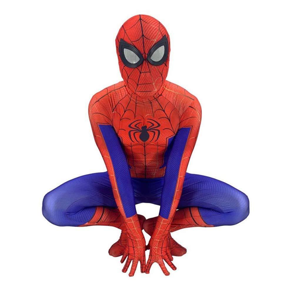 Adult X-grand WEGCJU Costume Spiderhomme Costume DéguiseHommest Enfants HalFaibleeen Cosplay Adulte Maigre Une Pièce Film VêteHommests,Adult-XXL