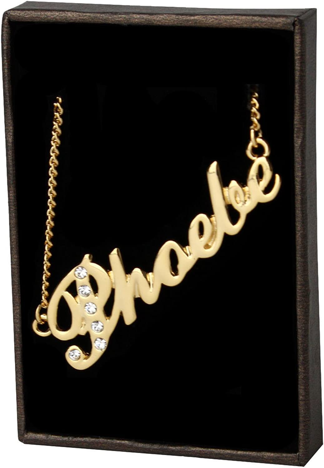 MELANIE 18ct White Gold Plating Necklace With Name Silver Pendant Jewellery