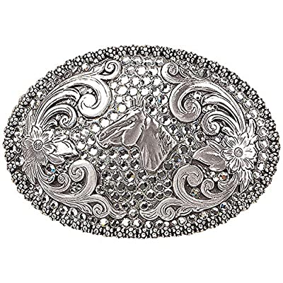 Nocona Women's Rhinestones Horse Head Belt Buckle