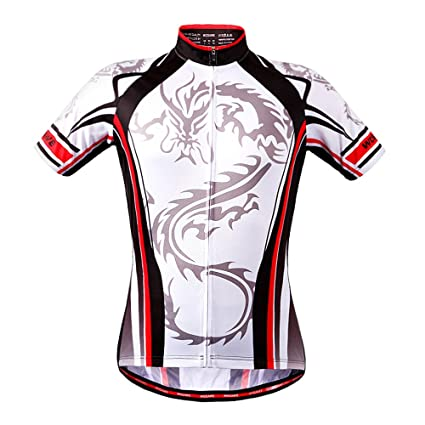 44fd47aec WOSAWE Cycling Jersey Bicycle Bike Cycle Short Sleeve Jersey Comfortable  Breathable Shirts Tops
